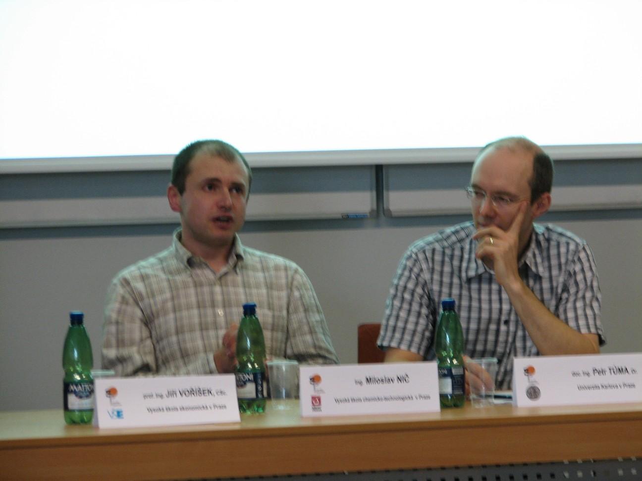 Zleva: M. Nič a P. Tůma
