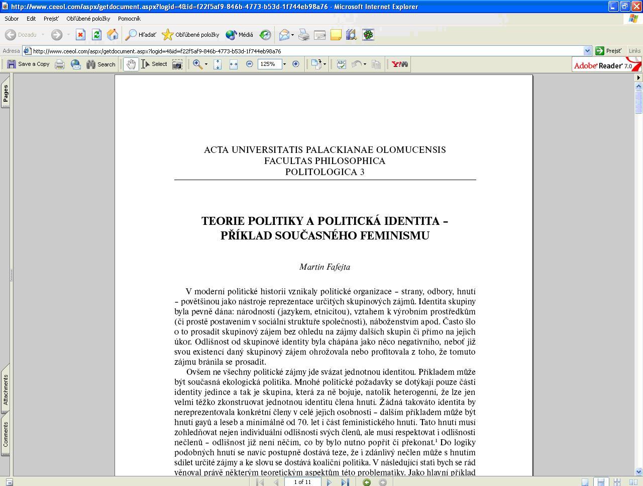 """Obr. 9: Konkrétny článok v PDF formáte po kliknutí na tlačidlo """"view"""""""