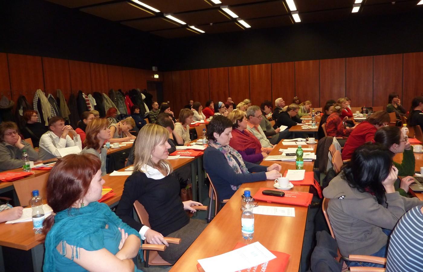 Účastníci konference zaplnili Konferenční sál MZK do posledního místa